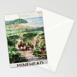 Minehead Vintage Travel Poster Stationery Cards