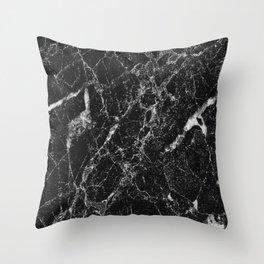 Black Marble 2 Throw Pillow