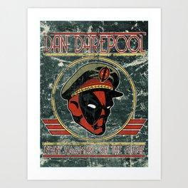 Dan Darepool: Insane Ninja-Merc of the Future Art Print