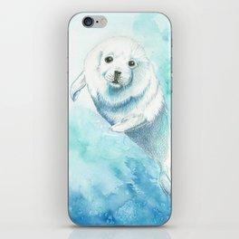 Baby seal iPhone Skin