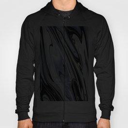 Grey and Black Ebru Marbling Effect Abstract Hoody