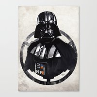 darth vader Canvas Prints featuring Darth Vader by Yvan Quinet
