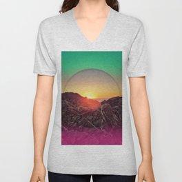 Peel sunset - color circle Unisex V-Neck