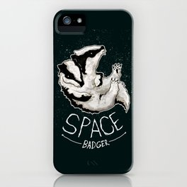 Space Badger by Devon Baker iPhone Case