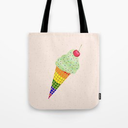 Colorful Ice Cream Cone Design Tote Bag