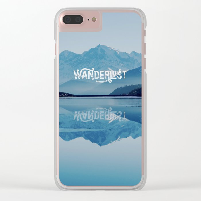 Wanderlust Clear iPhone Case