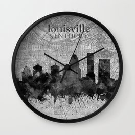 louisville skyline vintage 3 Wall Clock