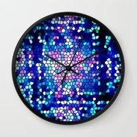 pool Wall Clocks featuring pool by mari3000
