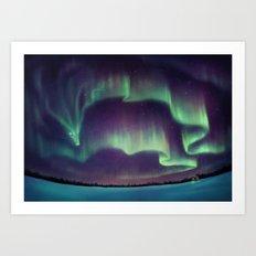 Northern Lights Dragon Art Print