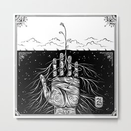 Feed the Soil Metal Print