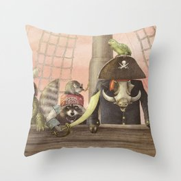 Pirates! Throw Pillow