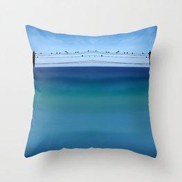 Cretan Sea & Birds I Throw Pillow