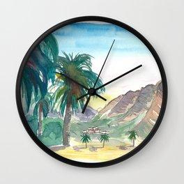 La Gomera Valle Gran Rey View with Palms Wall Clock