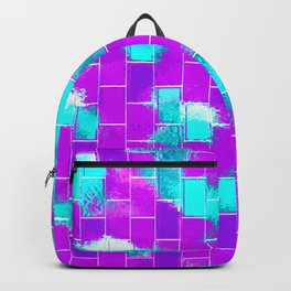 BRICK WALL SMUDGED (Purples, Violets & Turquoises) Backpack