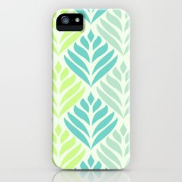 Abstract Lotus - Mint and Aqua iPhone Case