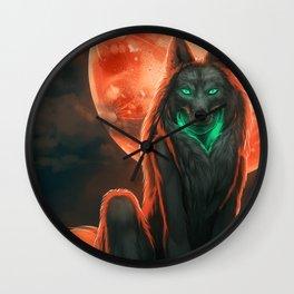 Werewolf (#Drawlloween2016 Series) Wall Clock