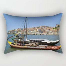 Port wine barges on the Douro Rectangular Pillow