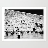 The Western Wall in the Old City, Jerusalem, Israel Art Print