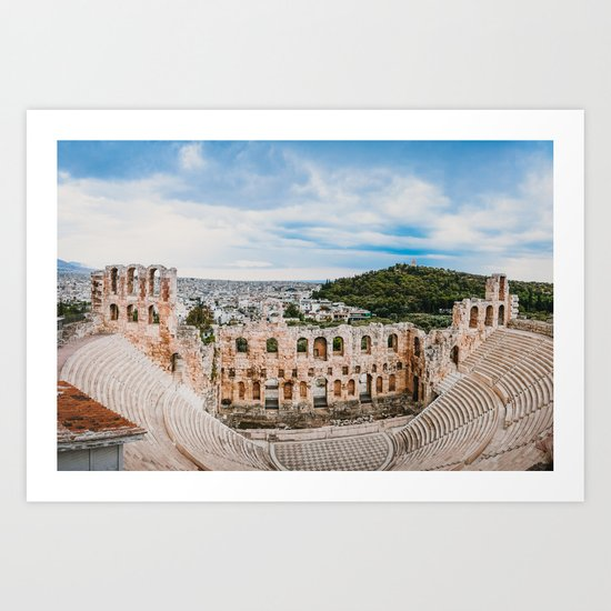 Theater of Dionysus in Athens Fine Art Print by sidecarphoto