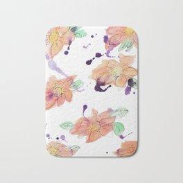 blazz studios: Watercolour Flowers Bath Mat