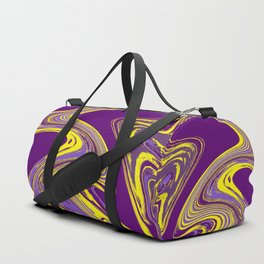 Purple and Yellow Fluid Painting Duffle Bag