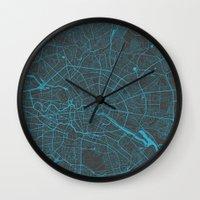 berlin Wall Clocks featuring Berlin by Map Map Maps