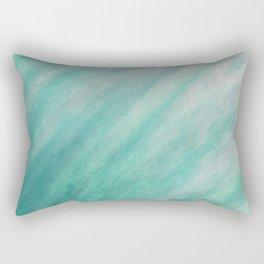 Tidal 2 Teal Gray - Abstract Art Series Rectangular Pillow