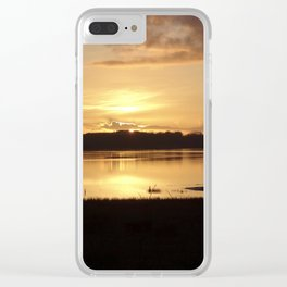 Inch Sunset Clear iPhone Case