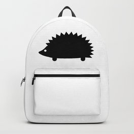 Spiky Echidna Silhouette Backpack