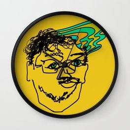 Bef - mustard Wall Clock