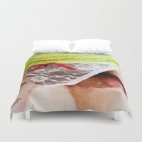 bdsm Duvet Covers featuring funny painting sex Fuck transgender gay cum crossdress BDSM fetish sissy submissive owned panty by Velveteen Rodent