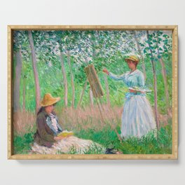 Monet - In the Woods at Giverny Serving Tray