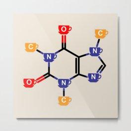 Caffeine, the molecule Metal Print