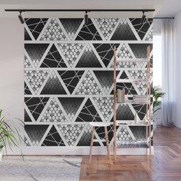 Zentangle Triangles Wall Mural