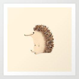 Happy Hedgehog Sketch Art Print