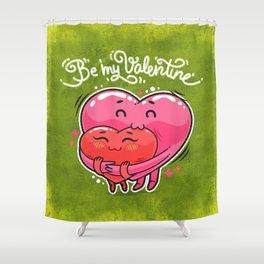 Hugging Valentine Hearts Shower Curtain