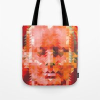 muscle Tote Bags featuring Muscle Man by Donovan Justice