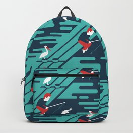 Fishing on the Dock Pattern Backpack