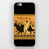 bouletcorp iPhone & iPod Skins featuring Taming the Triceratops by Bouletcorp