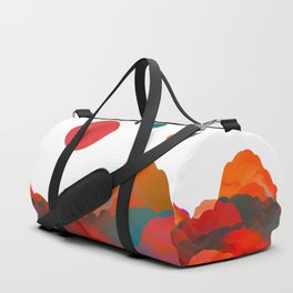 """Coral Sci-Fi Mountains"" Duffle Bag"