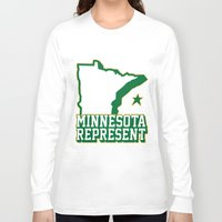 minnesota Long Sleeve T-shirts featuring Minnesota Represent by MNREPSHOW