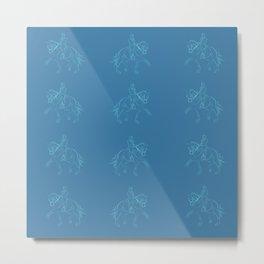 Dressage horse Metal Print