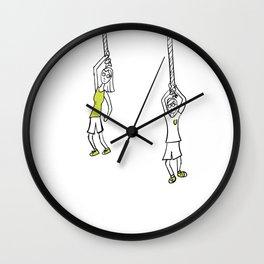 Hang Out Idiom Wall Clock