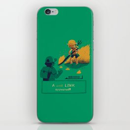 a wild link appeared iPhone Skin