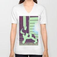 puppy V-neck T-shirts featuring Puppy by Karolis Butenas
