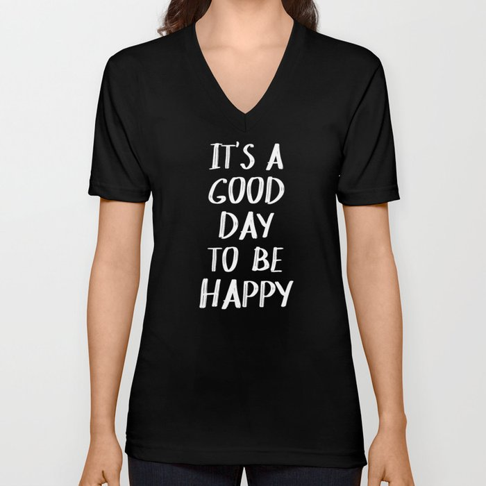 It's a Good Day to Be Happy - Yellow Unisex V-Neck
