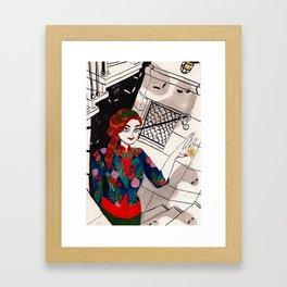 Urban Witch: Light Framed Art Print