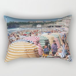 Biarritz Beach Tents Rectangular Pillow