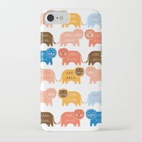 lions iPhone & iPod Cases featuring Lions  by Claire Brown Surface Pattern