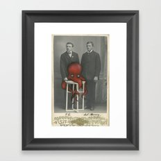 Altered Photo with Oil Paint - Old Cabinet photo repainted in oils  Framed Art Print